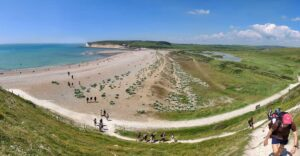 Hiking group to the Seven Sisters chalk cliffs